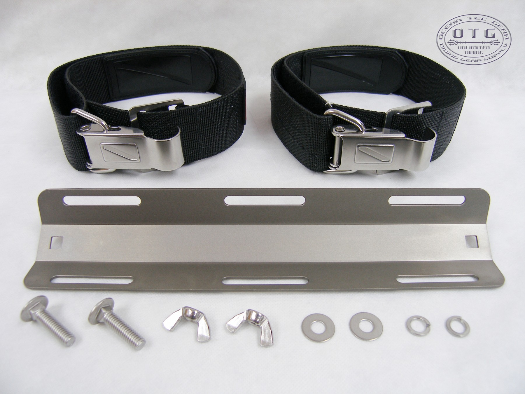 with Accessories Stainless Steel Tank Bands Strap Scuba Diving Dive Doubles